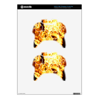 Fire & Flames Burning Fiery Gift Item Xbox 360 Controller Skin