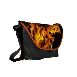 Fire Flames Burning Hot Messenger Bag