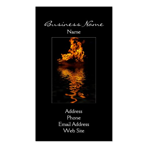 Fire Flames Burning Hot Passion Business Cards