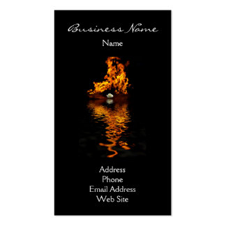 Fire Flames Burning Hot Passion Rose Business Card