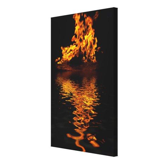 Fire Flames Burning Hot Romance Art Print