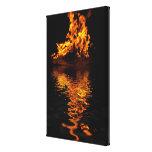 Fire Flames Burning Hot Romance Art Print Gallery Wrap Canvas