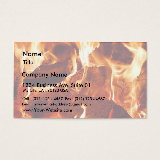 Fire Flames Business Card