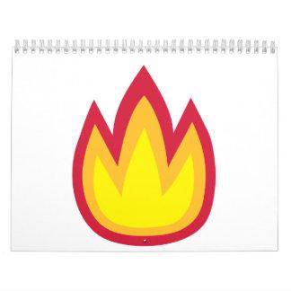 Fire flames calendar