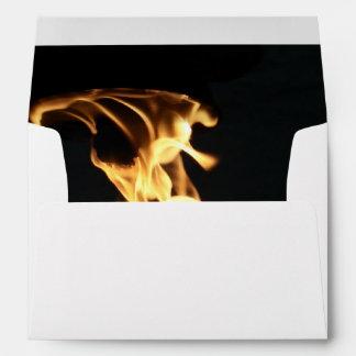 Fire Flames Campfire Bonfire Party Camping Envelope