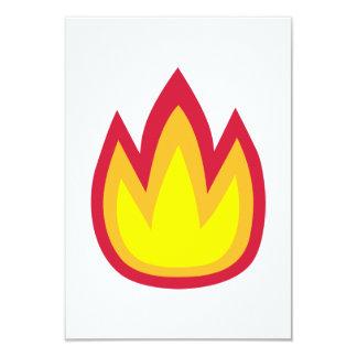 Fire flames card