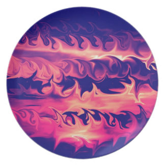 Fire Flames Design Party Plate