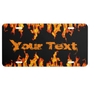 Fire Flames License Plate at Zazzle