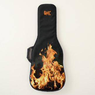 Fire Flames Monogram Electric Guitar Case Rock