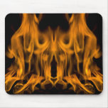 fire flames mouse pad