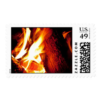 Fire Flames Postage Stamp