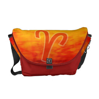 Fire flamin' hot red orange Aries bag Courier Bag