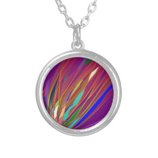 FIRE FLARE from Flying Object ufo Round Pendant Necklace