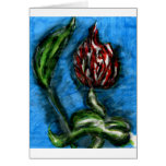 Fire Flower Black Bottom Mambo In The Style Of Bon Greeting Card