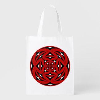 Fire flower emblem market totes