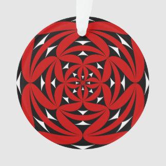 Fire flower emblem ornament