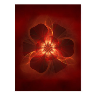 Fire Flower Fractal Art Postcard