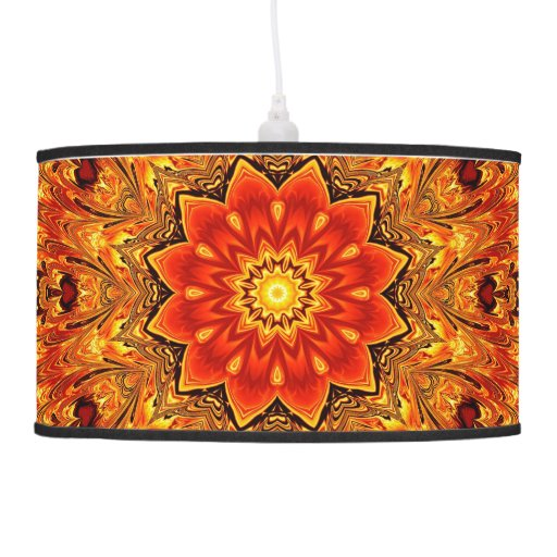 Fire flower kaleidoscope hanging pendant lamp