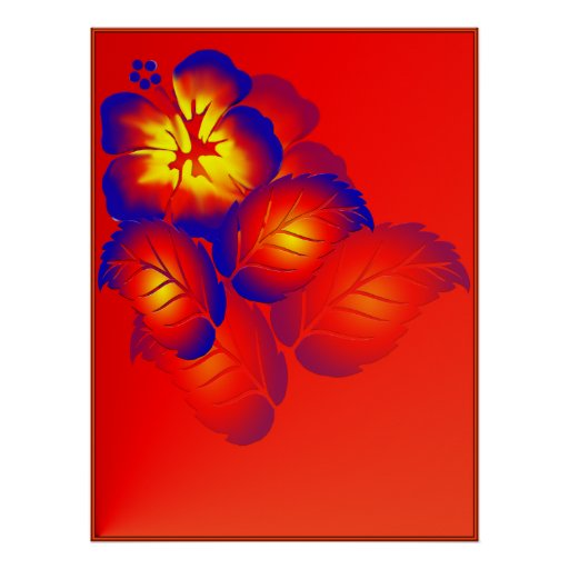 Fire Flower_Shadowed Poster