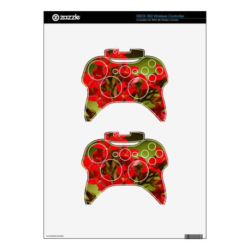 Fire Flower Xbox 360 Controller Decal