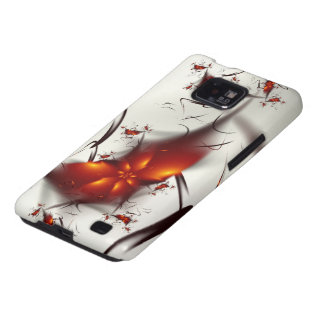 Fire Flowers & Ashes Abstract Fractal Samsung Galaxy S2 Case