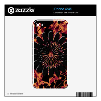 Fire Flowers device skins cases Skin For The iPhone 4