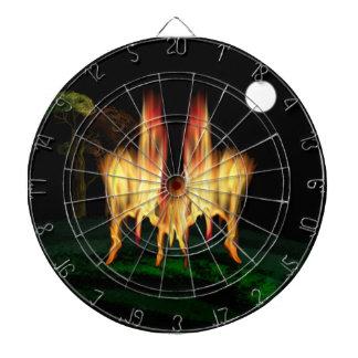 Fire Fly Dartboard With Darts
