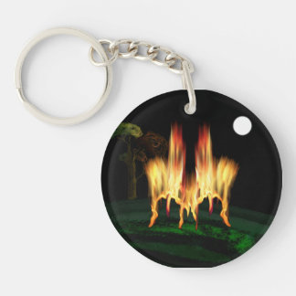 Fire Fly Double-Sided Round Acrylic Keychain