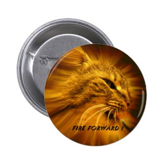Fire Forward Pinback Button
