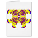 Fire Fractal Greeting Card