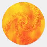 Fire Fractal Spiral: Stickers