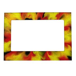Fire Frame Picture Frame Magnet