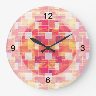 Fire French Tile Large Clock