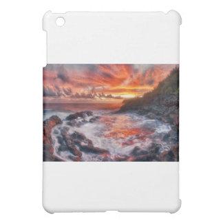 """""""Fire From the Sea"""" Kauai Sunrise Photo iPad Mini Cases"""