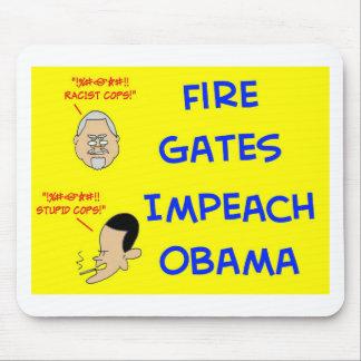 fire gates impeach obama mouse pad