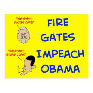 fire gates impeach obama postcard