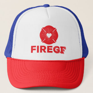Fire GF Fireman's Girlfriend Trucker Hat