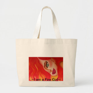 Fire Gir Line of Products. Intense & Stunning. Jumbo Tote Bag