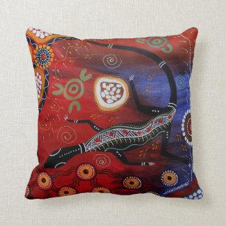 Fire Goanna Dreaming Pillow/Cushion Throw Pillow