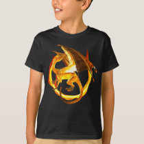 Fire Gold Flame Dragon Magical Fantasy T-Shirt