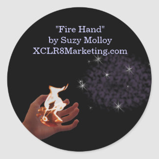 Fire Hand Large Sticker Sheets