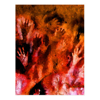 Fire Hands Postcard