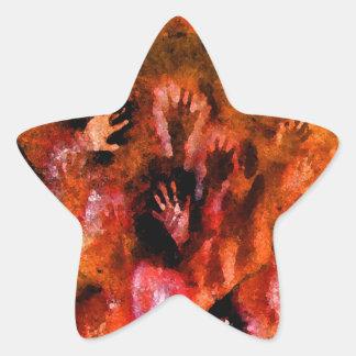 Fire Hands Star Sticker