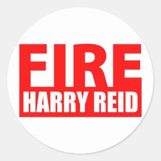 Fire Harry Reid Classic Round Sticker