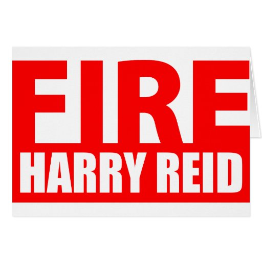 Fire Harry Reid Greeting Cards