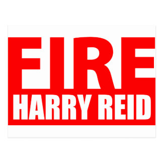 Fire Harry Reid Postcard
