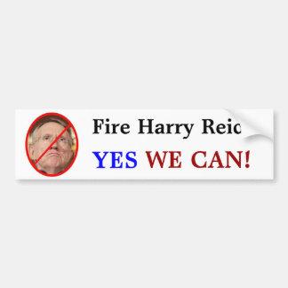 Fire Harry Reid YES WE CAN Bumper Stickers