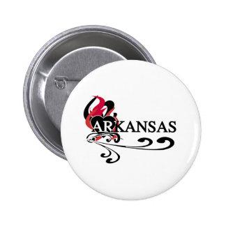 Fire Heart Arkansas Pinback Buttons
