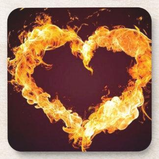 FIRE HEART BEVERAGE COASTERS