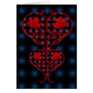 Fire Heart Blank Card